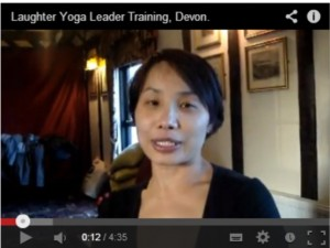 Video testimonials for Laughter Yoga Leader training Devon